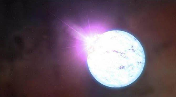 Atmosferinin yüzde 99.9′u oksijen olan yıldız! Adı da Dox…
