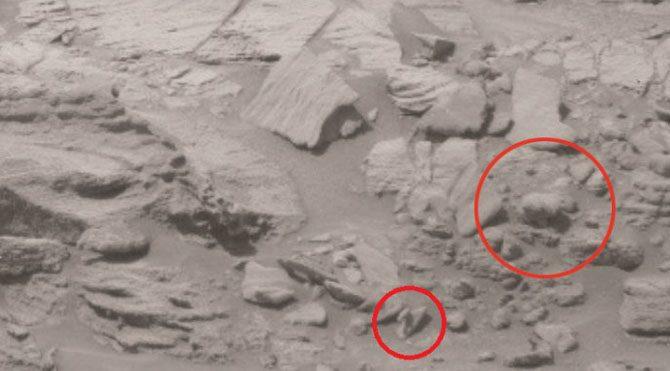 Daha önce de Mars'tan gelen fotoğraflardan birinde bir objenin ayıyı andırdığı iddia edilmişti.