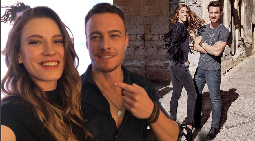 Serenay Sarıkaya ve Kerem Bürsin'den evlilik açıklaması