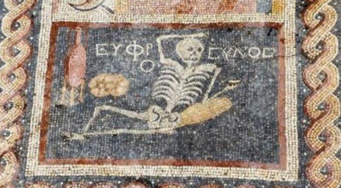Binlerce yıllık mozaik insanlığa mesaj veriyor