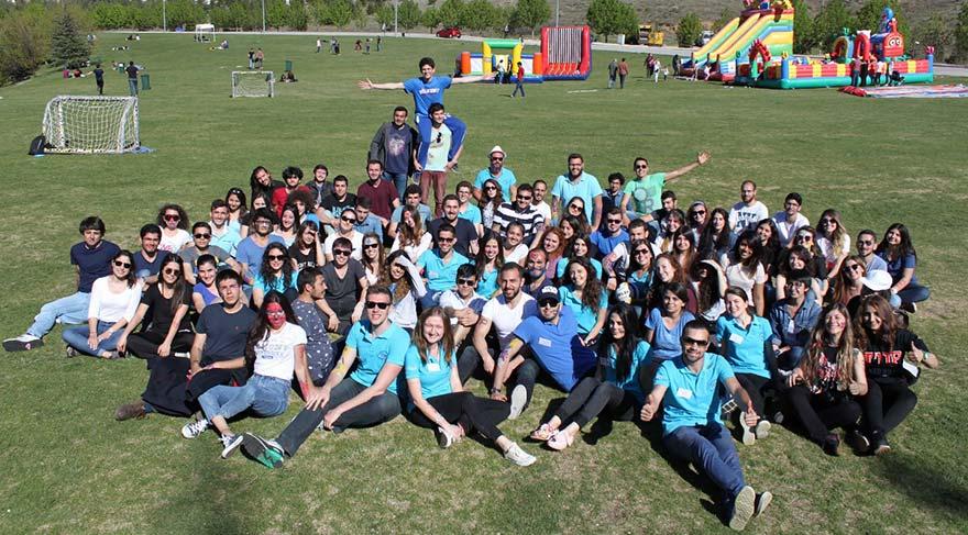 Bilkent'teki şenlikte gönüllüler de çocuklar kadar eğlendi!