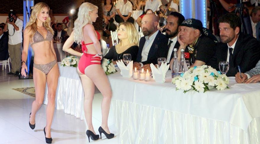 Finli güzeller mini güzellik yarışmasında Alanya'da jüri karşısına çıktı