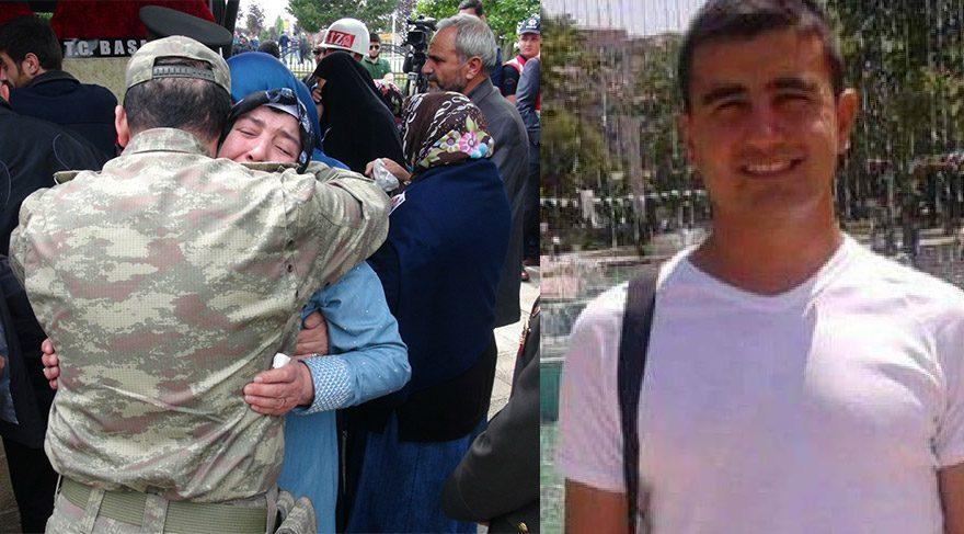 Şehit Üsteğmen Rahim Çelik'in yakınlarını silah arkadaşları teskin etmeye çalıştı