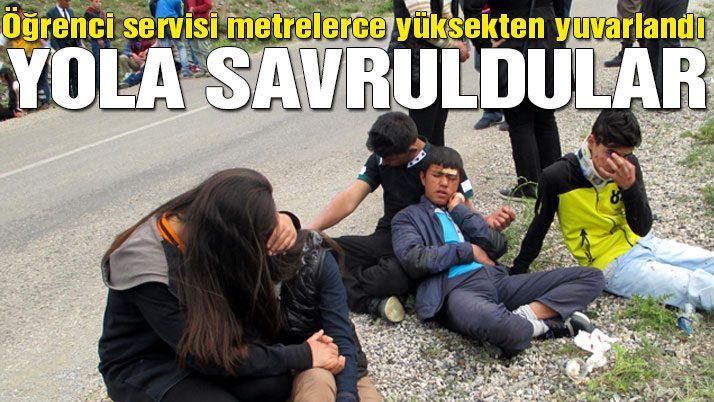 Öğrenci otobüsü devrildi: Bir ölü 26 yaralı