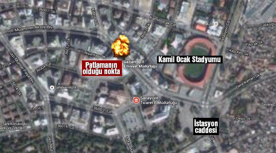 Gaziantep İl Emniyet Müdürlüğü'nde patlama