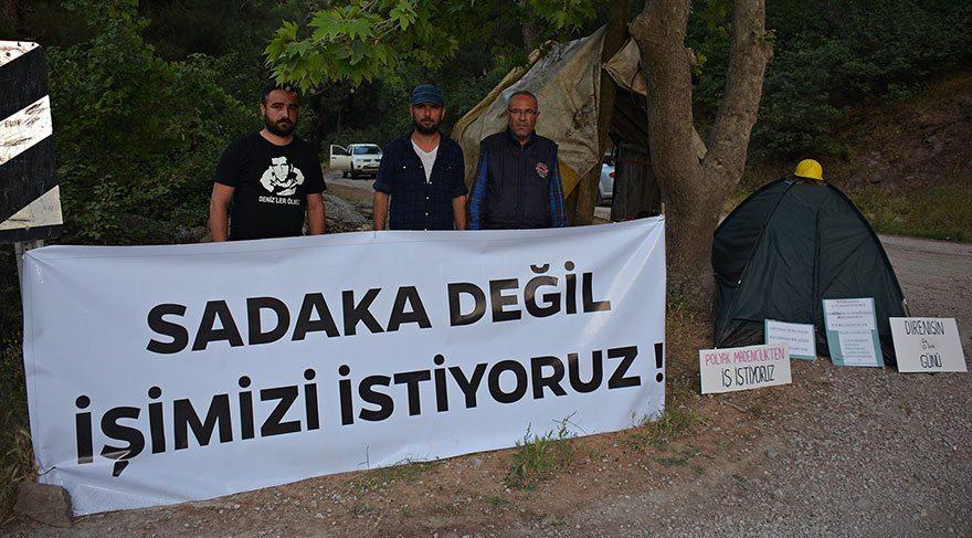 3 madenci, 3 bin 300 işçi için 'direniş çadırı' kurdu