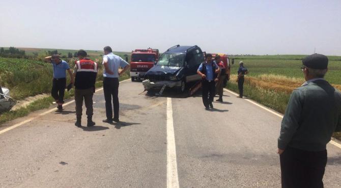 Cip ve otomobil çarpıştı: 1 ölü, 3 yaralı