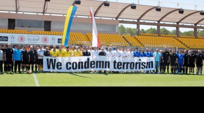 Parlamentolar Arası Futbol Turnuvası'nda teröre tepki