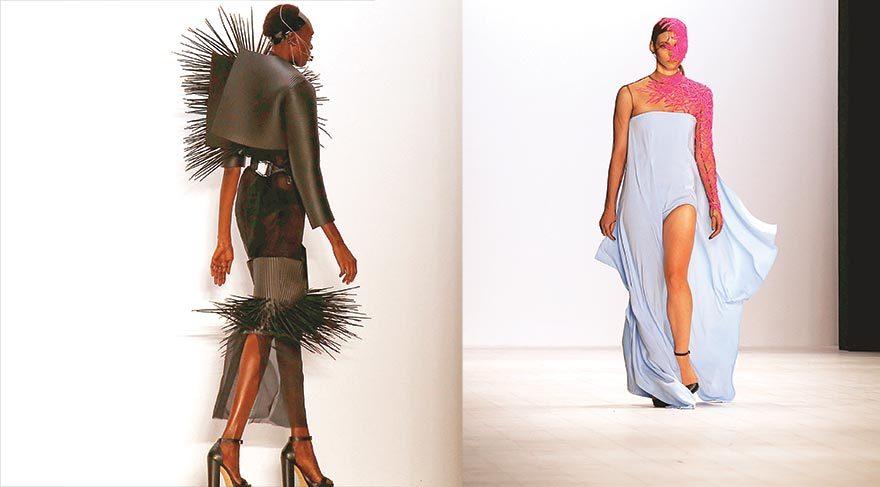 Moda haftasında ilginç görüntüler
