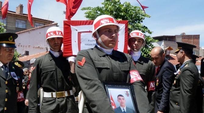 Nusaybin şehidini, 10 bin Bolvadinli uğurladı