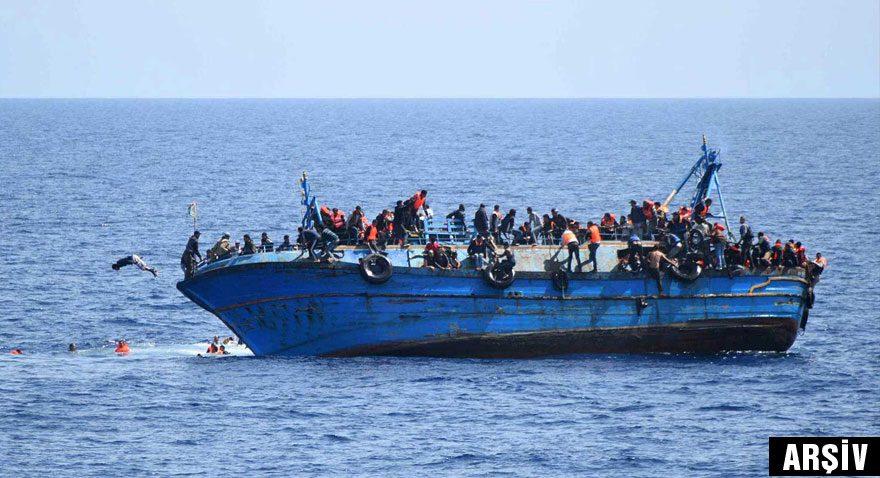 Libya açıklarında mülteci teknesi alabora oldu