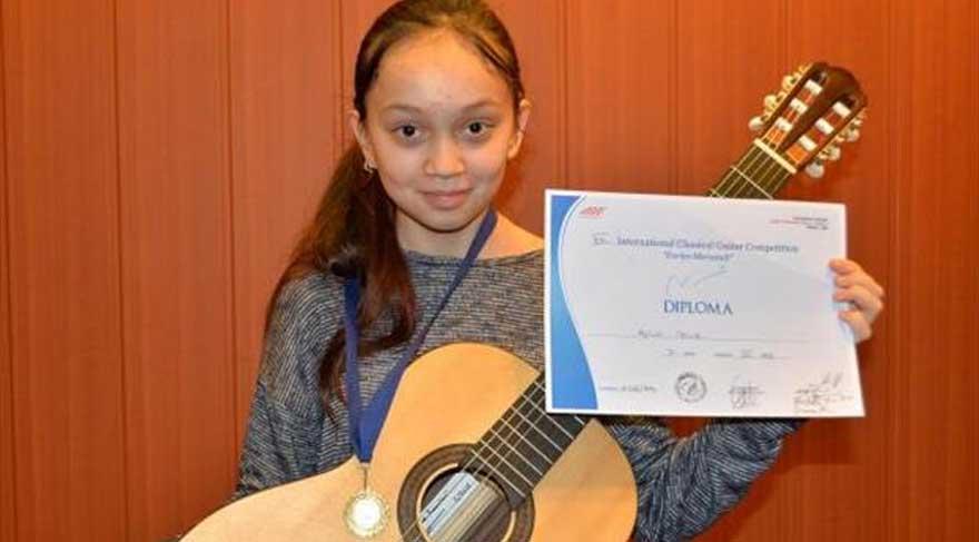 12 yaşındaki Aylin Çelik, İtalya'da birinci oldu