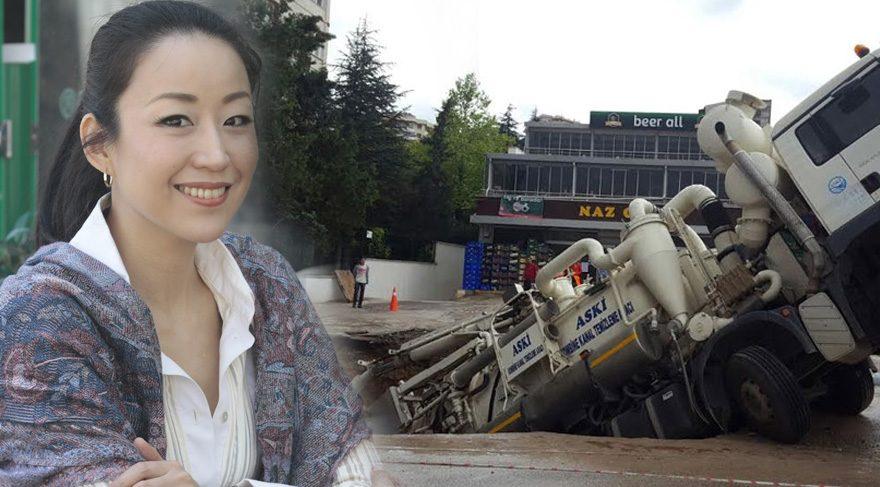 Ayumi Takano Ankara'da meydana gelen yol çökmesi hakkında paylaşım yaptı