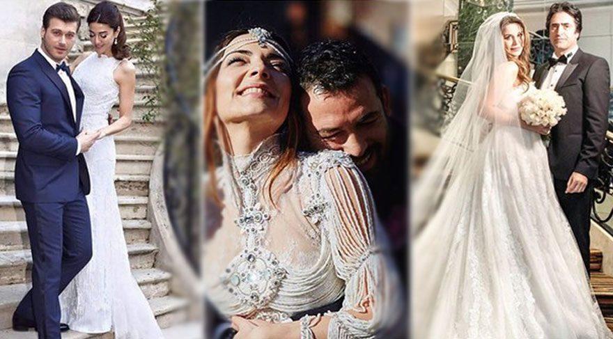Ünlülerden evlenen evlenene…