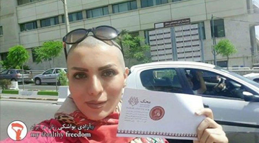 İranlı kadının 'saçsız' çığlığı