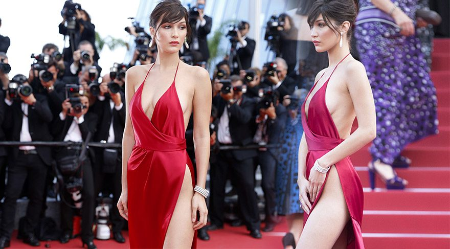Bella Hadid'in Cannes Film Festivali görünümü