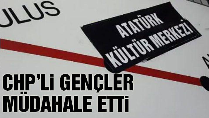 CHP'den Atatürk Kültür Merkezi eylemi