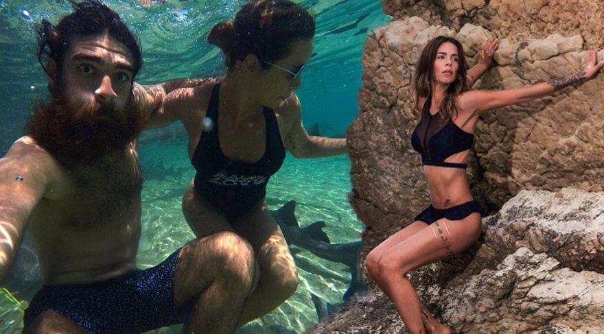 Eliz Sakuçoğlu sevgilisi Beran Benan ile Bahamalar'da tatilde