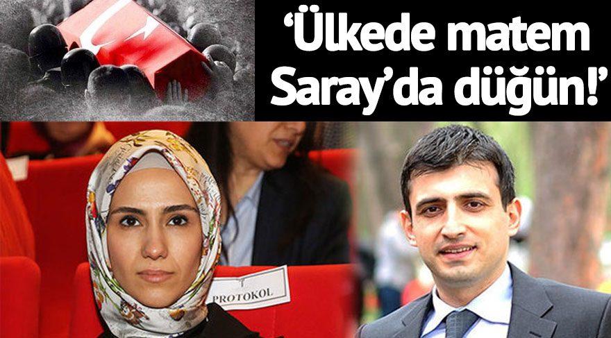 Sümeyye Erdoğan'ın nikahına rekor tepki: #ÜlkedeMatemSaraydaDüğün