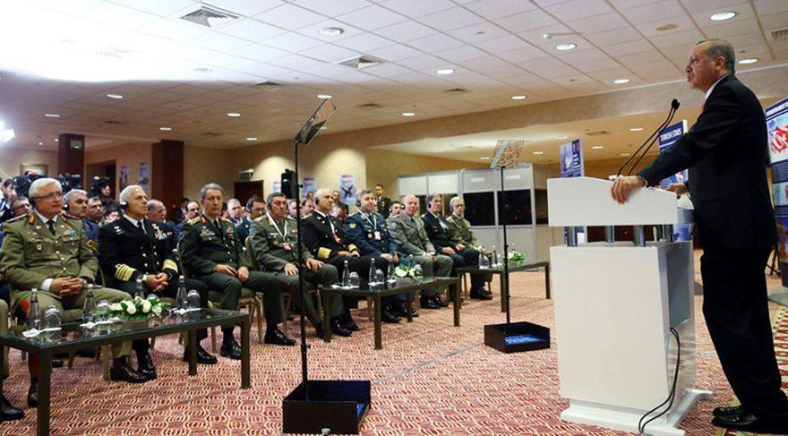 """FOTO:DHA - Cumhurbaşkanı Erdoğan ise """"Suriye ve Irak'ta DAEŞ'in verdiği kayıp bizim onlarla mücadelemizde 3 bine ulaşmıştır"""" diye konuştu."""