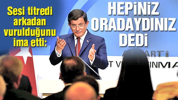 Davutoğlu'nun veda açıklaması
