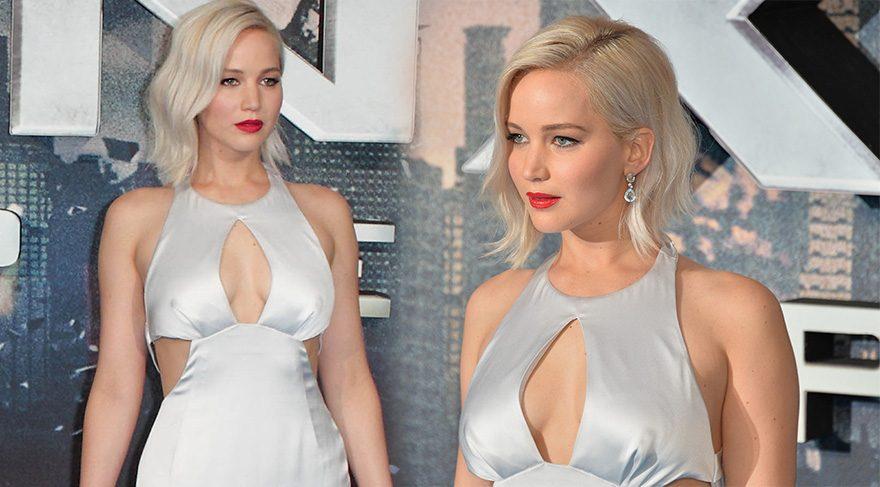 Jennifer Lawrence yine düştü