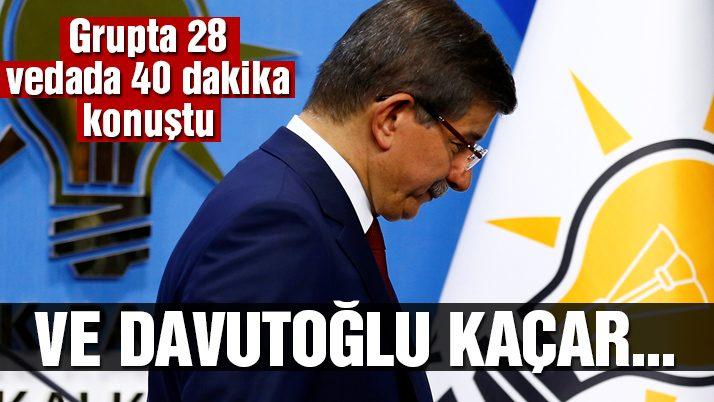 Başbakan Davutoğlu veda etti