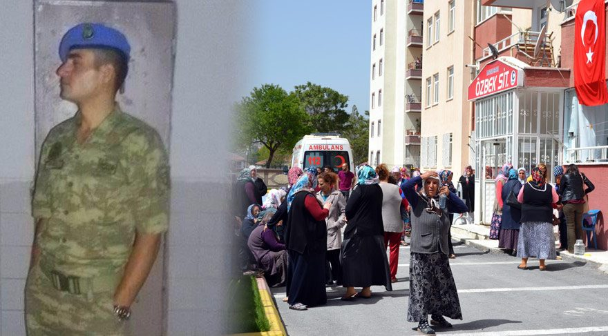 FOTO:DHA Uzman çavuş 26 yaşındaki İbrahim Akarsu'nun baba ocağına ateş düştü.