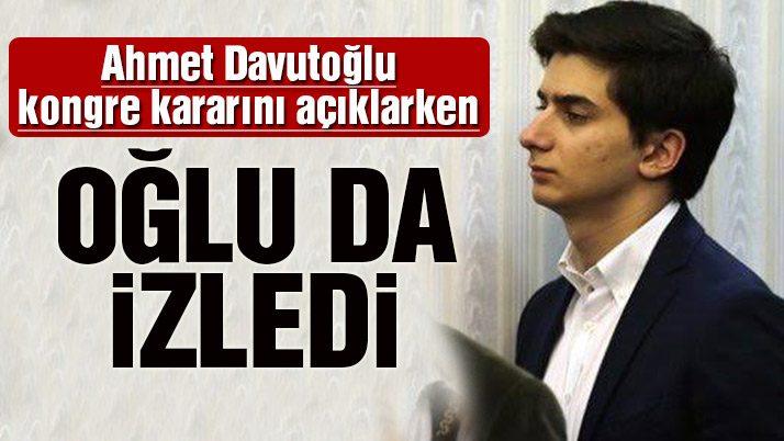 Davutoğlu'nun Mehmet Davutoğlu da salondaydı