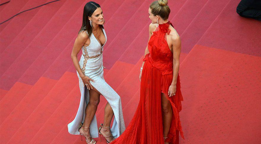 Alessandra Ambrosio ve Rosie Huntington-Whiteley 69. Cannes Film Festivali görünümü