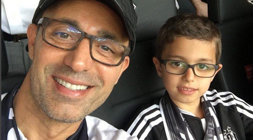 Mustafa Sandal oğlu Yaman'la staddaydı