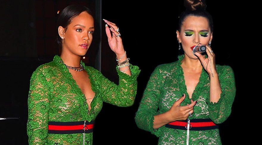 Demet Akalın ve Rihanna aynı elbiseyle…