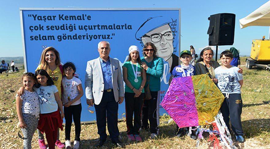 Uçurtmalarla Yaşar Kemal'e selam gönderdiler