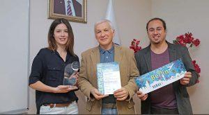 (Soldan) Deniz Durmuş- Prof. Dr. Sencer Yeralan- Cenk Sönmez