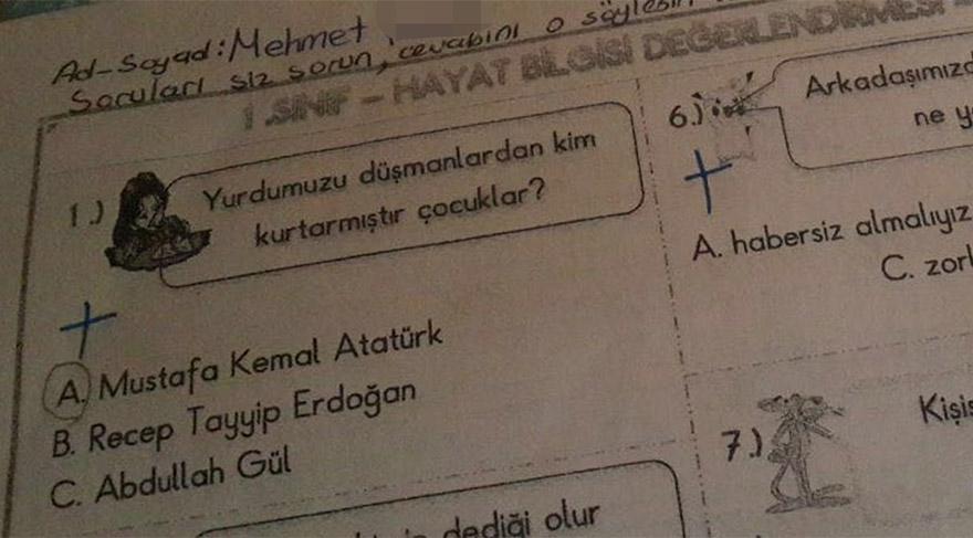 Hayat bilgisi testinde bu soruyu sordular!..