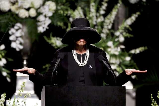 FOTO: REUTERS/ Muhammed Ali'nin son eşi Lonnie Ali, ilk anma konuşmasını yapan isimdi...