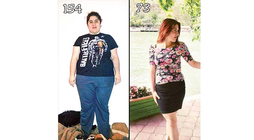 28 ayda 81 kilo verdi