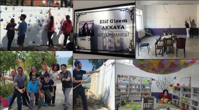 Güvenpark patlamasında hayatını kaybeden Elif Gizem Akkaya anısına kütüphane