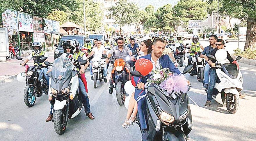 100 motosikletli gelin aLayı