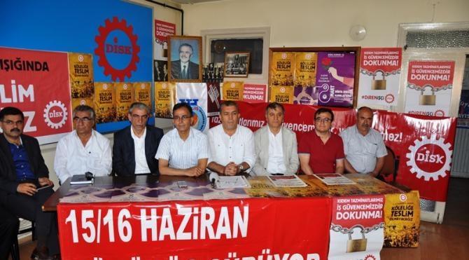 DİSK'ten '15-16 Haziran olayları' anması