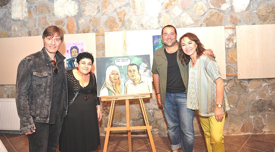 Serra Yılmaz resimleriyle Ata Demirer'i şakaladı