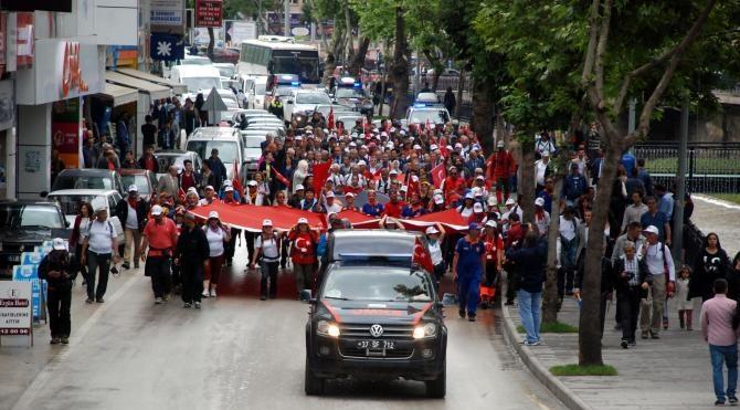 Kastamonu'da 'Atatürk ve İstiklal Yolu Yürüyüşü' sona erdi