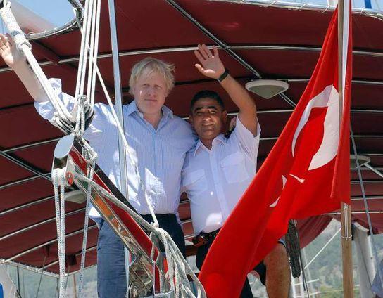 Boris Johnson sık sık Türkiye'ye tatile geliyor.