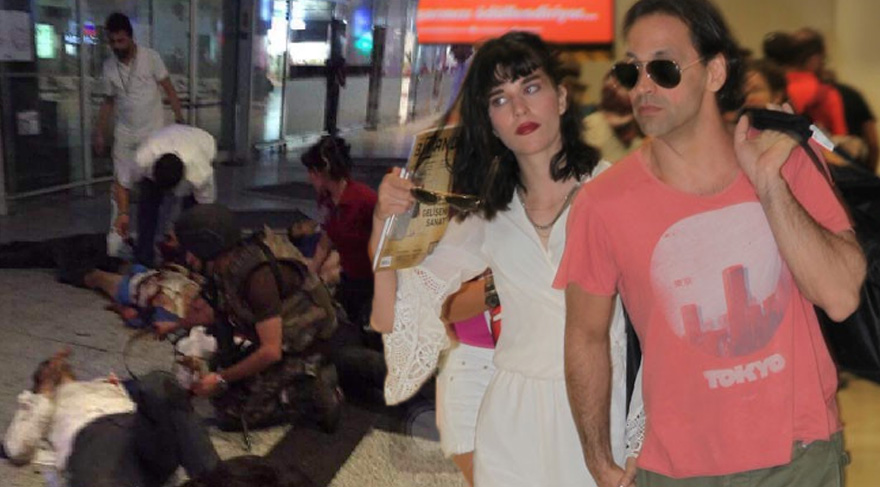 Kaan Tangöze ile sevgilisi Kıvılcım Ural Atatürk Havalimanı'ndaki patlamadan bir saat önce oradaydı