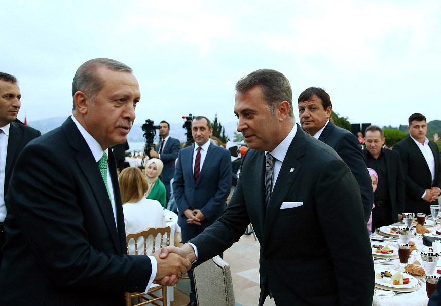 FOTO:DHA - Beşiktaş Jimnastik Klubü Başkanı Fikret Orman da davetliler arasındaydı.