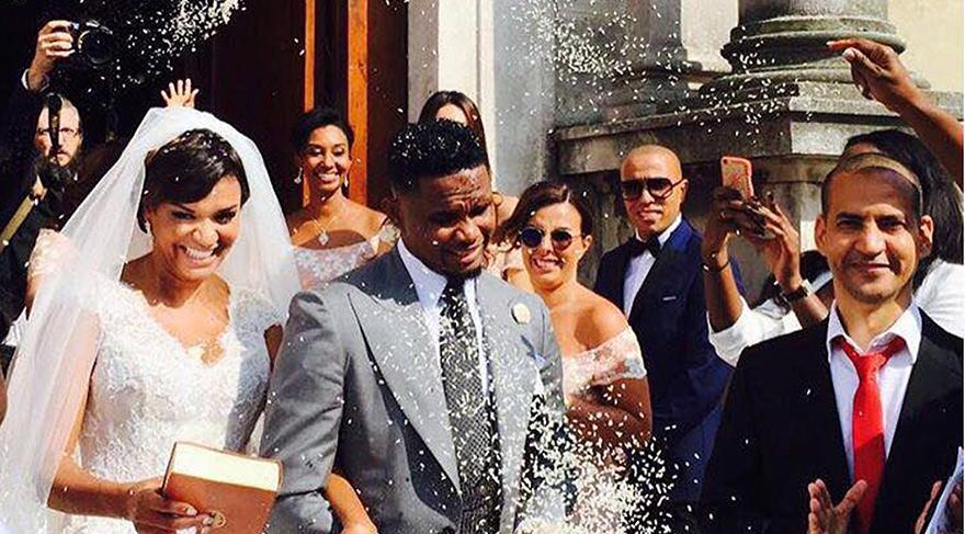 Antalyasporlu Eto'o karısıyla evlendi