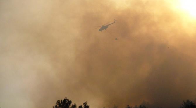 Sabah yangın tatbikatı yapıldı, öğleden sonra 25 hektarlık orman yandı