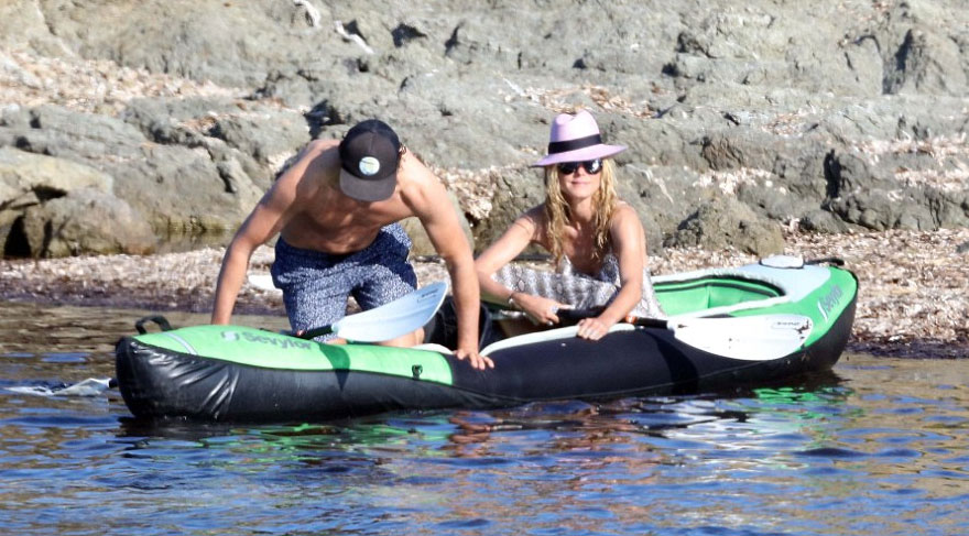 Heidi Klum ve Vito Schnabel Saint Tropez'de tatilde