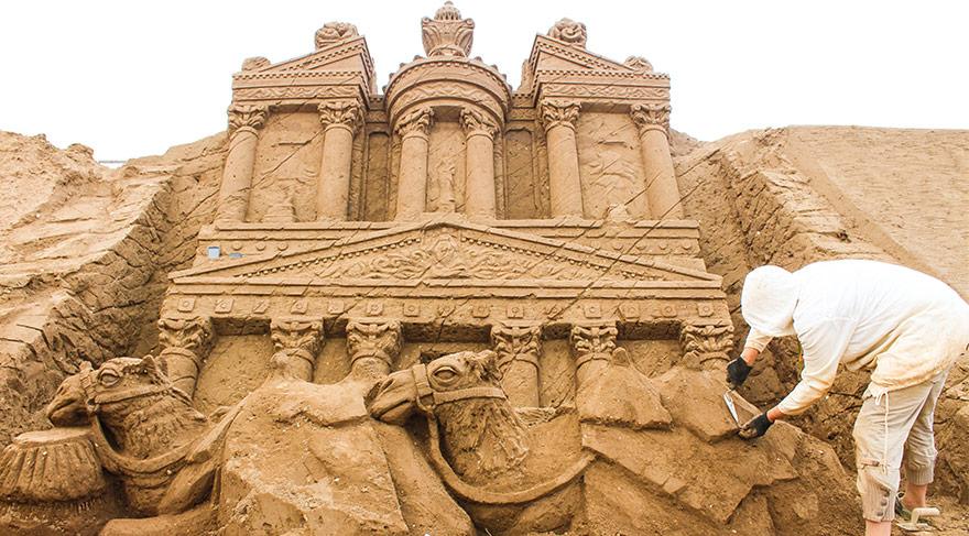 Uluslararası Antalya Kum Heykel Festivali'nden muhteşem kareler