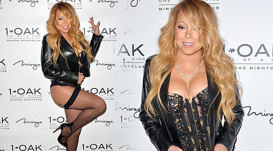 Mariah Carey jartiyerle açılışa gitti